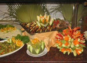украшение блюд из овощей