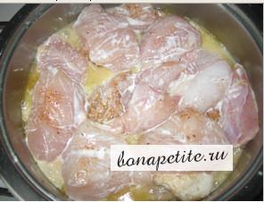 соте из курицы