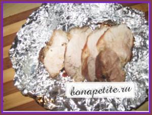 свинина в духовке в фольге