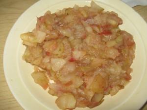 слоеное тесто с творогом яблоками